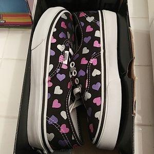 Van girl's sneaker heart shape shoes size 1